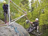 Actsafe PME Power Ascender and RIgging Frame in rescue operation