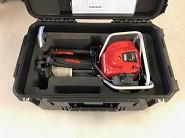 PMX petrol powered winch in transportation box with wheels